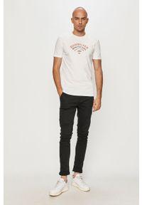 Biały t-shirt Quiksilver z nadrukiem, casualowy