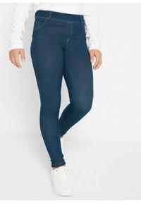 Legginsy dziewczęce w optyce dżinsów bonprix ciemnoniebieski. Kolor: niebieski