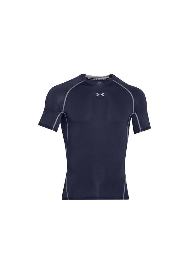 Niebieska koszulka termoaktywna Under Armour w kolorowe wzory