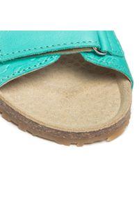 RenBut - Sandały RENBUT - 21-3371 Zielony. Zapięcie: pasek. Kolor: zielony. Materiał: skóra. Wzór: paski. Sezon: lato. Styl: wakacyjny, młodzieżowy #5