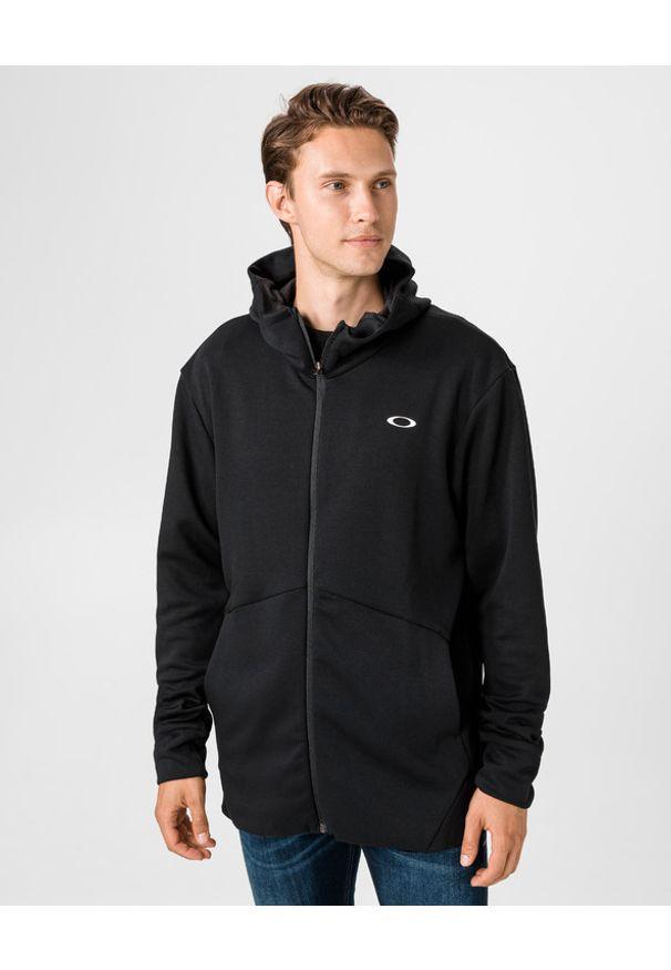 Czarna bluza Oakley długa, w kolorowe wzory, z kapturem