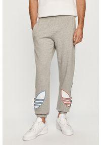 adidas Originals - Spodnie. Okazja: na co dzień. Kolor: szary. Wzór: aplikacja. Styl: casual
