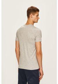 Szary t-shirt Armani Exchange na co dzień, casualowy