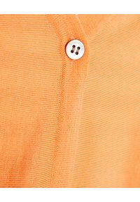 HEMISPHERE - Pomarańczowy kardigan z wełny. Okazja: na co dzień. Kolor: pomarańczowy. Materiał: wełna. Długość rękawa: długi rękaw. Długość: długie. Styl: klasyczny, casual