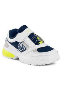 Kappa - Sneakersy KAPPA - Krypton 260794K White/Navy 1067. Zapięcie: rzepy. Kolor: biały, niebieski, wielokolorowy. Materiał: skóra ekologiczna, materiał. Szerokość cholewki: normalna