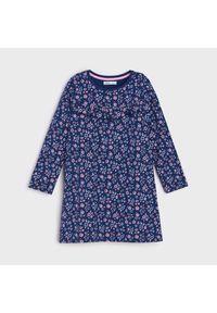 Sinsay - Sukienka w kwiaty - Niebieski. Kolor: niebieski. Wzór: kwiaty
