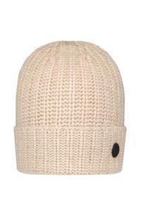 Beżowa czapka Bogner z aplikacjami, sportowa