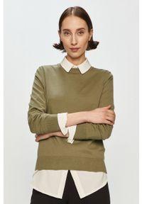 Zielony sweter Marc O'Polo polo, długi, casualowy