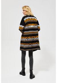 Sweter MOODO z długim rękawem, w geometryczne wzory