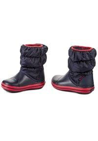 Crocs - Śniegowce CROCS - Winter Puff 14613 Navy/Red. Okazja: na spacer. Zapięcie: bez zapięcia. Kolor: niebieski. Materiał: materiał