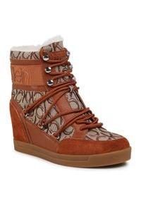 Calvin Klein Sneakersy Fiorenza B4E00189 Brązowy. Kolor: brązowy