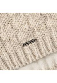 Beżowa czapka zimowa PaMaMi klasyczna