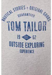Tom Tailor Denim - Bluza. Okazja: na co dzień. Kolor: szary. Materiał: denim. Wzór: nadruk. Styl: casual