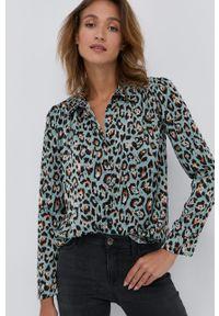 Nissa - NISSA - Koszula. Okazja: na co dzień. Kolor: zielony. Materiał: tkanina. Długość rękawa: długi rękaw. Długość: długie. Styl: casual