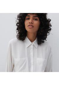 Reserved - Koszula z EcoVero™ - Biały. Kolor: biały