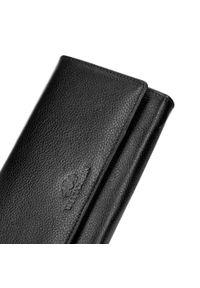 Wittchen - Damski portfel skórzany z kieszenią na suwak. Kolor: czarny. Materiał: skóra