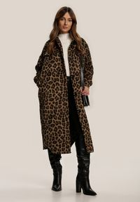 Renee - Brązowy Płaszcz Snowtwig. Kolor: brązowy. Długość rękawa: długi rękaw. Długość: długie
