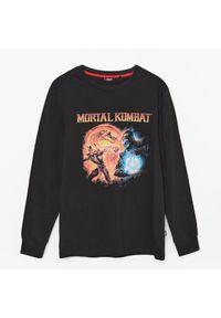 Cropp - Koszulka z nadrukiem Mortal Kombat - Czarny. Kolor: czarny. Wzór: nadruk