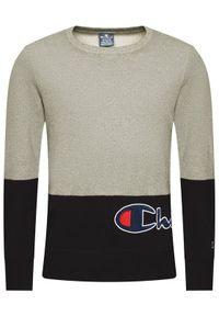Champion Bluza Colour Block Warparound Logo 214206 Szary Comfort Fit. Kolor: szary