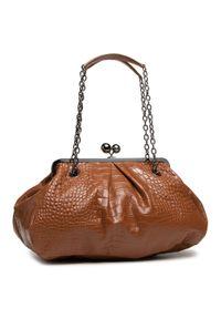 Brązowa torebka klasyczna Weekend Max Mara skórzana