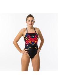 NABAIJI - Strój Jednoczęściowy Pływacki Lexa Kal Damski. Kolor: czerwony, żółty, wielokolorowy, czarny, pomarańczowy, różowy. Materiał: poliamid, materiał, poliester