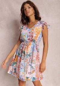 Renee - Liliowa Sukienka Armoren. Kolor: fioletowy