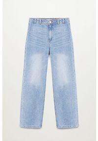 Niebieskie jeansy Mango Kids na co dzień, z podwyższonym stanem