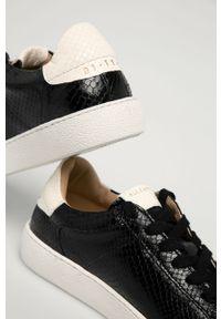 Czarne sneakersy AllSaints z cholewką, na obcasie, na niskim obcasie, z okrągłym noskiem