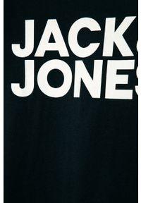 Niebieski t-shirt Jack & Jones na co dzień, z nadrukiem, casualowy