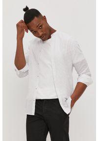 Biała koszula Jack & Jones ze stójką, z długim rękawem