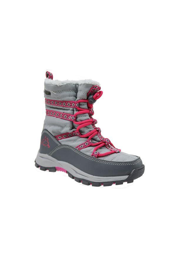 Buty trekkingowe Kappa w kolorowe wzory, na zimę, z cholewką