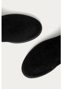 Czarne botki Answear Lab z cholewką, bez obcasa, wakacyjne