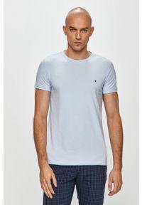 Niebieski t-shirt TOMMY HILFIGER na co dzień, casualowy