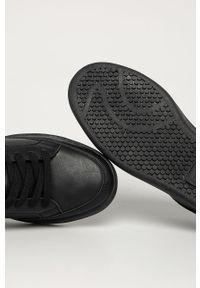 Czarne sneakersy Levi's® na spotkanie biznesowe, z cholewką, w kolorowe wzory