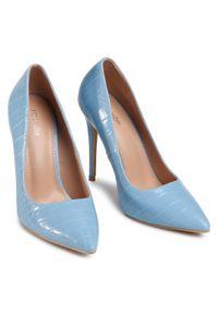 Niebieskie szpilki DeeZee na średnim obcasie, eleganckie