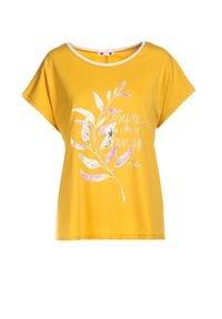 Born2be - Żółta Bluzka Lameriope. Kolor: żółty