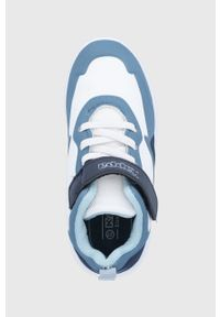 Niebieskie buty sportowe Kappa z cholewką, na rzepy