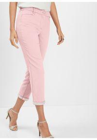 Różowe spodnie bonprix z aplikacjami