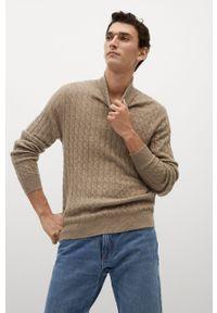 Sweter Mango Man długi, casualowy, z długim rękawem