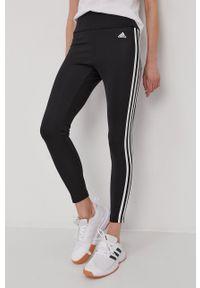 Adidas - adidas - Legginsy. Stan: podwyższony. Kolor: czarny. Materiał: dzianina