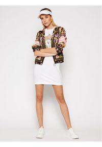 Biała sukienka Versace Jeans Couture na co dzień, prosta