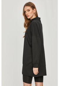 Czarna bluza Answear Lab wakacyjna, długa, bez kaptura