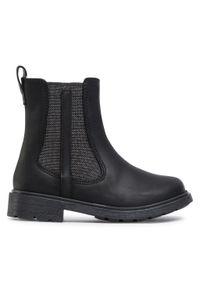 Czarne buty zimowe Clarks z cholewką