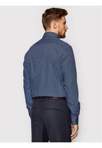 Tommy Hilfiger Tailored Koszula Large Square Dot Print MW0MW16509 Granatowy Regular Fit. Kolor: niebieski. Wzór: nadruk