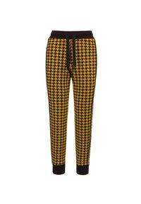 Żółte spodnie sportowe Deha z nadrukiem