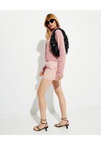 NANUSHKA - Różowy kardigan Cade. Kolor: wielokolorowy, różowy, fioletowy. Materiał: akryl, wełna, jeans. Długość rękawa: długi rękaw. Długość: długie