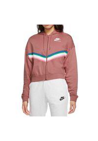 Bluza damska Nike Sportswear CU5902. Typ kołnierza: kaptur. Materiał: bawełna, wiskoza, materiał, włókno, poliester