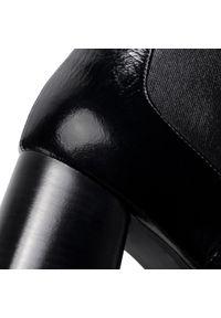 Czarne botki HÖGL na obcasie, z cholewką, na średnim obcasie #7