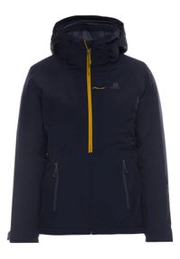 Niebieska kurtka sportowa salomon narciarska