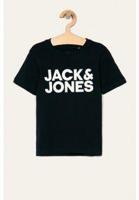 Jack & Jones - T-shirt dziecięcy 128 - 176 cm. Okazja: na co dzień. Kolor: niebieski. Materiał: materiał. Wzór: nadruk. Styl: casual #1